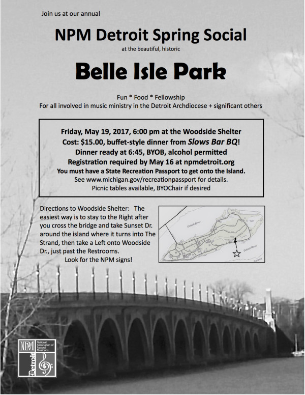 Belle Isle Spring Social flier PDF 3