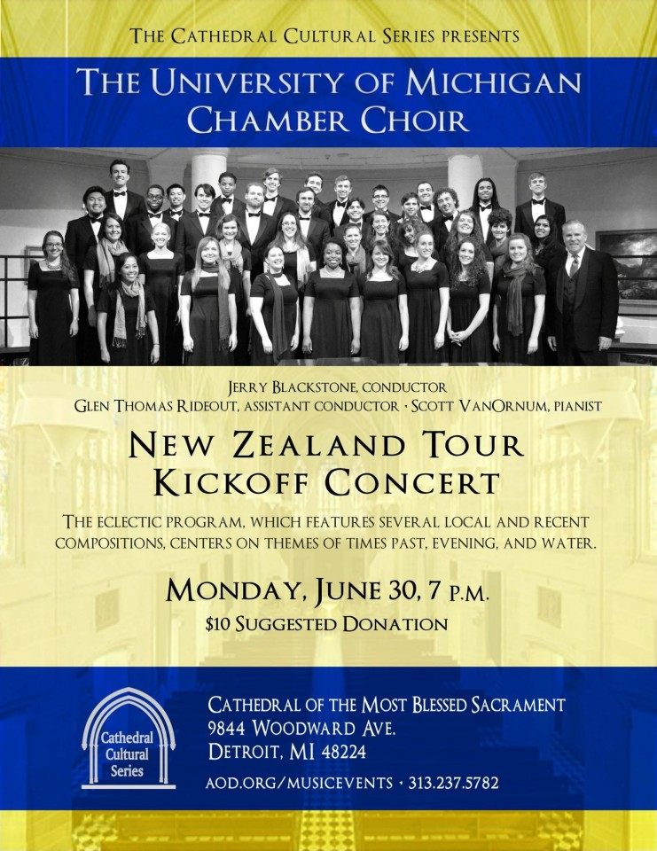 Michigan Chamber choir poster
